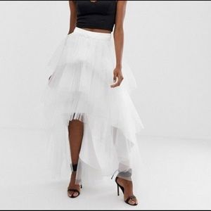 ASOS Chi Chi London Tiered Tulle Skirt